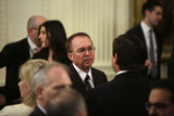 Benjamin Netanyahu Photo - White House chief of staff Mick Mulvaney attends a meeting with United States President Donald J Trump and Israels Prime Minister Benjamin Netanyahu in the East Room of the White House in Washington DCon Tuesday January 28 2020 Credit Joshua Lott  CNPAdMedia