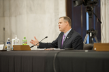 The National Photo - National Aeronautics and Space Administration Administrator James F Bridenstine appears before a Senate Committee on Appropriations Subcommittee on Commerce Justice Science and Related Agencies hearing to examine proposed budget estimates and justification for fiscal year 2021 for the National Aeronautics and Space Administration in the Senate Russell Office Building on Capitol Hill in Washington DC Wednesday September 23 2020 Credit Rod Lamkey  CNPAdMedia
