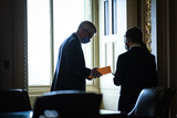 Cassidy Photo - WASHINGTON DC - FEBRUARY 12 Sen Bill Cassidy R-La talks with staff in the Senate Reception room on the fourth day of the Senate Impeachment trials for former President Donald Trump on Capitol Hill on Friday Feb 12 2021 in Washington DC Credit Jabin Botsford  Pool via CNPAdMedia
