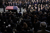 Alex Wong Photo - The flag-draped casket of United States Representative Elijah Cummings (Democrat of Maryland) is seen during a memorial service for the late congressman at the Statuary Hall of the US Capitol October 24 2019 in Washington DC Rep Cummings passed away on October 17 2019 at the age of 68 from complications concerning longstanding health challenges Credit Alex Wong  Pool via CNPAdMedia
