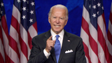 Joe Biden Photo - In this image from the Democratic National Convention video feed former United States Vice President Joe Biden the 2020 Democratic Party nominee for President of the US delivers his acceptance speech on the last night of the convention on Thursday August 20 2020Credit Democratic National Convention via CNPAdMedia