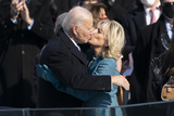 Kiss Photo - United States President Joe Biden kisses Jill Biden after taking the Oath of Office as the 46th President of the US at the US Capitol in Washington DC on Wednesday January 20 2021 Credit Chris Kleponis  CNPAdMedia