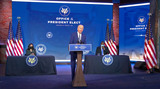 US Army Photo - United States President-elect Joe Biden delivers remarks introducing retired US Army four-star General Lloyd J Austin III as his nominee to serve as the 28th US Secretary of Defense from the Queen Theatre in Wilmington Delaware on Wednesday December 9 2020  US Vice President-elect Kamala Harris looks on from left and Gen Austin looks on from rightCredit Biden Transition via CNPAdMedia
