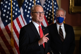 Supreme Court Photo - Senator Kevin Cramer R-ND speaks during a press conference after President Trumps Supreme Court nominee Judge Amy Coney Barrett was confirmed by the Senate as the 115th justice to the Supreme Court on Capitol Hill Monday October 26th 2020AdMedia