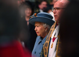 Queen Elizabeth II Photo - 09032020 - Queen Elizabeth II and and The Very Reverend Dr David Hoyle Dean of Westminster Commonwealth Day 2020 Service at Westminster Abbey in London Photo Credit ALPRAdMedia