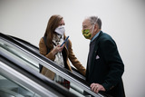 Chuck Grassley Photo - Senator Chuck Grassley a Republican from Iowa wears a protective mask while riding the escalator through the Senate Subway at the US Capitol in Washington DC US on Thursday Feb 11 2021 House prosecutors used the second day of Donald Trumps impeachment trial to detail a months-long campaign by the former president to stoke hatred and encourage violence over the election results that they said culminated in the mob attack on the US Capitol that he then did little to stop Credit Ting Shen - Pool via CNPAdMedia