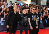 Andy Hurley Photo - 21 June 2015 - Toronto Ontario Canada  Pete Wentz Patrick Stump Andy Hurley and Joe Trohman of Fall Out Boy arrive at the 2015 MuchMusic Video Awards at MuchMusic HQ  Photo Credit Brent PerniacAdMedia