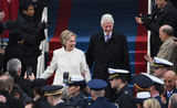 Bill Clinton Photo - Former President Bill Clinton and wife Hillary Clinton walk down the steps during the Inauguration Ceremony of President Donald Trump on the West Front of the US Capitol on January 20 2017 in Washington DC  Trump became the 45th President of the United States Photo Credit Pat BenicCNPAdMedia