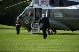 White House Photo - United States President Donald J Trump walks to Marine One on the South Lawn of the White House in Washington DC US as he departs for Yuma Arizona on Tuesday June 23 2020  Trump stated that he authorized the Federal government to arrest any demonstrator caught vandalizing US monuments with a punishment of up to 10 years in prison  Credit Stefani Reynolds  CNPAdMedia
