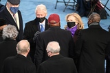 President Bill Clinton Photo - Former US President Bill Clinton (L) and former US Secretary of State Hillary Clinton are seen seen before US president-elect Joe Biden is sworn in as the 46th US President on January 20 2021 at the US Capitol in Washington DC - Biden a 78-year-old former vice president and longtime senator takes the oath of office at noon (1700 GMT) on the US Capitols western front the very spot where pro-Trump rioters clashed with police two weeks ago before storming Congress in a deadly insurrection (Photo by Saul LOEB  POOL  AFP)AdMedia