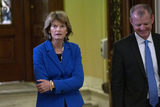 alaska Photo - United States Senator Lisa Murkowski (Republican of Alaska) exits the Senate Chamber during a brief recess in the impeachment trial of United States President Donald J Trump on Capitol Hill in Washington DC US on Friday January 31 2020 Credit Stefani Reynolds  CNPAdMedia