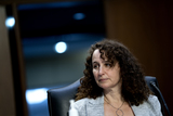 Executive Director Photo - Amy Hanauer Executive Director at the Institute on Taxation and Economic Policy listens during a US Senate Budget Committee hearing at the Hart Senate Office Building on Capitol Hill in Washington DC US on Thursday March 25 2021 Credit Stefani Reynolds  CNPAdMedia