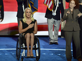 Mallory Weggemann Photo - Mallory Weggemann leads the Pledge of Allegiance to open the second session of the 2016 Democratic National Convention at the Wells Fargo Center in Philadelphia Pennsylvania on Tuesday July 26 2016 Photo Credit Ron SachsCNPAdMedia