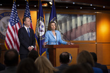 Adam Schiff Photo - Speaker of the United States House of Representatives Nancy Pelosi (Democrat of California) joined by United States Representative Adam Schiff (Democrat of California) speak at a press conference on Capitol Hill in Washington DC US on October 2 2019 Photo Credit Stefani ReynoldsCNPAdMedia