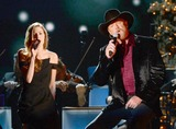 Trace Adkins Photo - 08 November 2013 - Nashville Tennessee - Lily Costner Trace Adkins 2013 CMA Country Christmas Taping held at Bridgestone Arena Photo Credit Laura FarrAdMedia