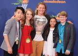 Aidan Miner Photo - 16 July 2015 - Westwood California - Lance Lim Jade Pettyjohn Tony Cavalero Breanna Yde Aidan Miner Nickelodeon Kids Choice Sports Awards 2015 held at the UCLA Pauley Pavilion Photo Credit Byron PurvisAdMedia