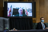 Andrew Wheeler Photo - United States Senator Ben Cardin (Democrat of Maryland) speaks virtually during a US Senate Environment and Public Works Committee hearing with Andrew Wheeler administrator of the Environmental Protection Agency (EPA) not pictured on Capitol Hill in Washington DC US on Wednesday May 20 2020 Credit Al Drago  Pool via CNPAdMedia