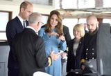 David Attenborough Photo - 26092019 - Prince William Duke of Cambridge and Duchess of Cambridge meet with crew members during the naming ceremony of Britains new polar research ship the RRS Sir David Attenborough at Camel Laird Shipyard in Birkenhead Merseyside Photo Credit ALPRAdMedia