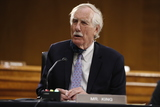 Angus King Photo - United States Senator Angus King Jr (Independent of Maine) speaks during a US Senate Intelligence Committee nomination hearing for US Representative John Ratcliffe (Republican of Texas) on Capitol Hill in Washington Tuesday May 5 2020 The panel is considering Ratcliffes nomination for director of national intelligence Credit Andrew Harnik  Pool via CNPAdMedia