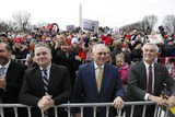 The National Photo - United States House Minority Whip Steve Scalise (Republican of Louisiana) center listens to remarks by US President Donald J Trump at the 47th annual March for Life on the National Mall in Washington DC on January 24 2020 At left is US Representative Chris Smith (Republican of New Jersey)Credit Yuri Gripas  Pool via CNPAdMedia