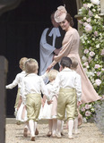 Prince George Photo - 20 May 2017 - Catherine Duchess of Cambridge with her children Prince George of Cambridge at the wedding of James Matthews and Pippa Middleton at St Marks Church Englefield Berkshire UK Photo Credit ALPRAdMedia
