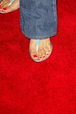 Kimberly Page Photo - Kimberly Pages sandals at the World Premiere of the 40 Year-Old Virgin Arclight Hollywood Hollywood CA 08-11-05