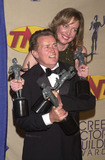 Allison Janney Photo -  Martin Sheen and Allison Janney at the 7th Annual Screen Actors Guild Awards held at the Shrine Auditorium Los Angeles 03-11-01