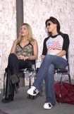 911 Photo -  TAYLOR DANE and GINA GERSHON at the celebrity recording of We Are Family to benefit the victims of New Yorks 9-11 tragedy 09-23-01