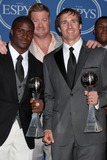 Jeremy Shockey Photo - LOS ANGELES - JUL 14  Reggie Bush Jeremy Shockey and Drew Brees pose along with members of the New Orleans Saints after winning the ESPY for Best Team in the Press Room of the 2010 ESPY Awards at Nokia Theater - LA Live on July14 2010 in Los Angeles CA
