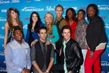 Amber Holcomb Photo - LOS ANGELES - MAR 7  (Top L-R) Finalists Angie Miller Kree Harrison Janelle Arthur Devin Velez Amber Holcomb Burnell Taylor Candice Glover (Bottom L-R) Curtis Finch Jr Lazaro Arbos and Paul Jolley arrives at the 2013 American Idol Finalists Party at the The Grove on March 7 2013 in Los Angeles CA