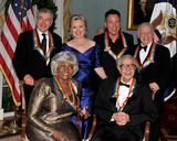 Dave Brubeck Photo - Washington DC - December 5 2009 -- 2009 Kennedy Center honorees pose for the formal group photo following the Artists Dinner at the United States Department of State in Washington DC on Saturday December 5 2009  Front row from left to right Grace Bumbry and Dave Brubeck  Back row from left to right Robert De Niro  United States Secretary of State Hillary Rodham Clinton Bruce Springsteen Mel BrooksPhoto by Ron SachsPool-CNP-PHOTOlinknet