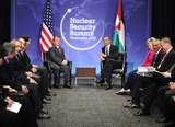 Abdullah II of Jordan Photo - United States President Barack Obama holds bilateral meeting with King Abdullah II of Jordan on the sidelines of the Nuclear Security Summit at the Washington Convention Center Monday April 12 2010 in Washington DC Photo by Ron SachsPool-CNP-PHOTOlinknet