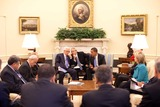 ABBA Photo - Washington DC - May 28 2009 -- United States President Barack Obama meets with Palestinian Authority President Mahmoud Abbas in the Oval OfficeMANDATORY PHOTO CREDIT Pete SouzaWhite House-CNP-PHOTOlinknet