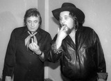 Johnny Cash Photo - Johnny Cash Waylon Jennings4657JPGCelebrity Archaeology1982 FILE PHOTONew York CityJohnny Cash Waylon JenningsPhoto by Adam Scull-PHOTOlinknet