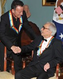 Dave Brubeck Photo - Washington DC - December 5 2009 -- 2009 Kennedy Center honorees Bruce Springsteen left and Dave Brubeck congratulate each other after they and their fellow honorees posed for the formal group photo following the Artists Dinner at the United States Department of State in Washington DC on Saturday December 5 2009 Photo by Ron SachsPool-CNP-PHOTOlinknet
