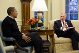 John Brennan Photo - President Barack Obama meets with John Brennan Deputy National Security Advisor for Counterterrorism and Homeland Security in the Oval OfficeMANDATORY CREDIT Pete SouzaWhite HousePHOTOlinknet