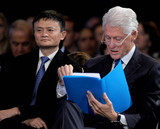 THE CLINTONS Photo - Photo by Dennis Van TinestarmaxinccomSTAR MAX2015ALL RIGHTS RESERVEDTelephoneFax (212) 995-119692915Jack Ma and Bill Clinton at The Clinton Initiative 2015 Annual Meeting(NYC)