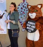 MISS UNIVERSE Photo - Photo by PETAstarmaxinccomSTAR MAX2018ALL RIGHTS RESERVEDTelephoneFax (212) 995-11965318Wearing wings a white gown and a pageant sash reading Angel telenovela star and Miss Universe 1996 Alicia Machado appears with a fluffy cat in a new PETA Latino ad that proclaims Be an Angel for Animals The ad was unveiled today at the Los Angeles Animal Care Center in Downey