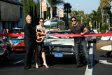 Abbe Land Photo - Abbe Land John Heilman and John Duran at the official unveiling of Guitartown on the Sunset Strip and the completion of the Sunset Strip Beautification Project Los Angeles CA 81210