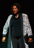 Angie Stone Photo - Angie Stone performs in Theo Londons Inspirational Staged play Loving Him Is Killing Me at James L Knight Center Miami FL 51511