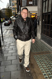 Happy Mondays Photo - Happy Mondays singer Shaun Ryder arrives at BBC Radio 1 studios on a wet day in London UK 121610