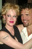 Thalia Photo - Melanie Griffith with Brent Barrett at a Welcome to Broadway Party For Melanie Griffith at Thalia Restaurant in New York City on July 20 2003 Photo Henry McgeeGlobe Photos Inc 2003 K31787hmc