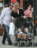 Diana Krall Photo - NYC  100707Elvis Costello and Diana Krall with their twin sons Dexter Henry Lorcan and Frank Harlan James (10 months old) shopping in lower ManhattanDigital Photo by Adam Nemser-PHOTOlinknet