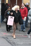 Agent Provocateur Photo - NYC  121810EXCLUSIVE Amanda Lepore wearing leopard pants and shoes shopping for lingerie at Agent Provocateur and Kiki de Montparnasse with a friend in SOHOEXCLUSIVE photo by Adam Nemser-PHOTOlinknet