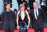 Jean Dujardin Photo - VENICE ITALY - AUGUST 30 Louis Garrel Emmanuelle Seignier and Jean Dujardin walk the red carpet ahead of the JAccuse (An Officer And A Spy) screening during the 76th Venice Film Festival at Sala Grande on August 30 2019 in Venice Italy(Photo by Laurent KoffelImageCollectcom)
