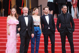 Lea Seydoux Photo - CANNES FRANCE - MAY 22 (L-R) Sara Forestier Arnaud Desplechin Lea Seydoux Antoine Reinartz and Roschdy Zem attend the screening of Oh Mercy (Roubaix une Lumiere) during the 72nd annual Cannes Film Festival on May 22 2019 in Cannes France(Photo by Laurent KoffelImageCollectcom)