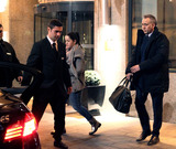 Nicolas Cage Photo - February 12 2014 BucharestNicolas Cage leaving the Hilton Hotel as he heads for a late night scene shooting of The Dying of the Light on February 12 2014 in Bucharest Romania