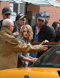 Allen Coulter Photo - Actors Emilie de Ravin and Robert Pattinson and Director Allen Coulter on theSoho set of the new movie Remember me on June 24 2009 in New York City