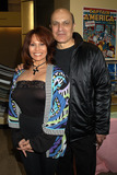 THOM CHRISTOPHER Photo - BARBARA LUNA and THOM CHRISTOPHER and  at the Big Apple Comic Book Sow New York April 3 2004