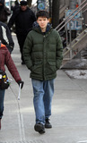Asa Butterfield Photo - January 28 2014 New York CityActor Asa Butterfield on the set of the new movie Ten Thousand Saints on January 28 2014 in New York City